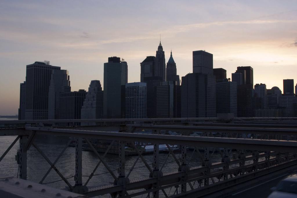 Вечерний скайлайн Манхэттена