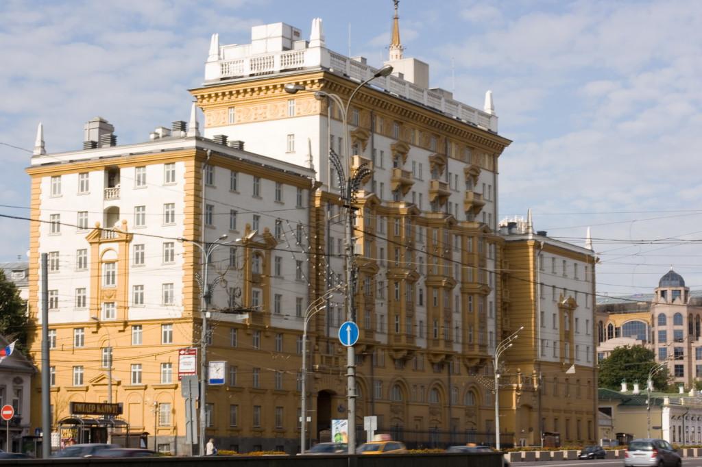 Здание посольства США на Садовом кольце