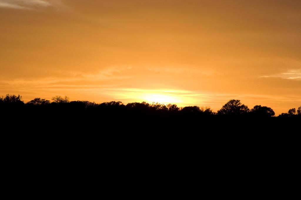 Волшебный закат в Техасе