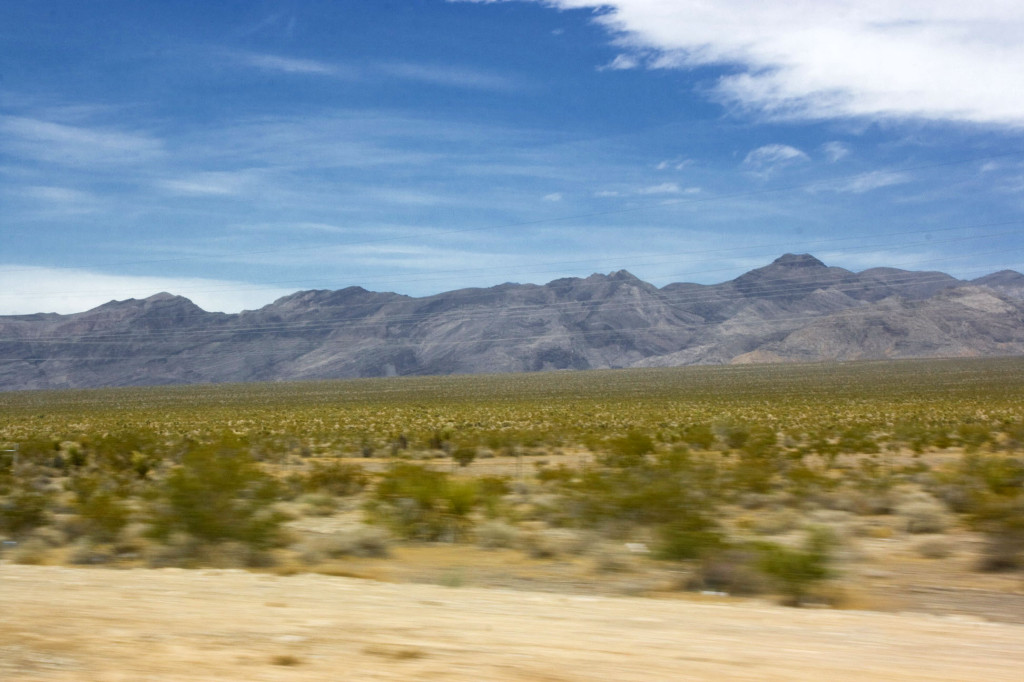 Черные горы, за которыми начинается Долина Смерти